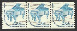 United States - Scott #1615C Used Strip Of 3 (2) - Rollenmarken