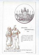 CPA Rouen Patriotique Fontaine Monumentale 1879 Girieud Falguière On Se Croirait En Plein Sahara ! - Rouen