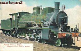 ITALIAN EXPRESS BRINDISI RAILWAY OILETTE TRAIN LOCOMOTIVE ZUG BAHNHOF LOKOMOTIVE STATION ESTACION TREN LOCOMOTORA - Brindisi
