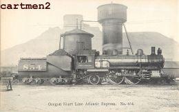 OREGON SHORT LINE ATLANTIC EXPRESS UNITED-STATES TRAIN LOCOMOTIVE ZUG BAHNHOF LOKOMOTIVE STATION ESTACION LOCOMOTORA - Stations With Trains
