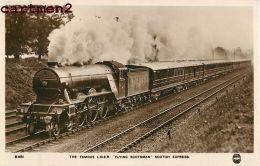 L.N.E.R. FLYING SCOTSMAN SCOTSCH ESPRESS TRAIN LOCOMOTIVE ZUG BAHNHOF LOKOMOTIVE STATION ESTACION TREN LOCOMOTORA U.K. - Trains
