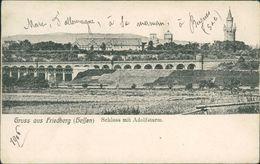 AK Friedberg, Schloss Mit Adolfsturm, O 1906, Eckknicke (15939) - Friedberg