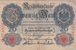 Germany Reichsbanknote 1914 - 20 Mark (DD6-12) - 20 Mark