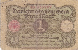 Germany Darlehenskassenschein 1920 - 1 Mark (DD6-12) - [ 3] 1918-1933 : Weimar Republic