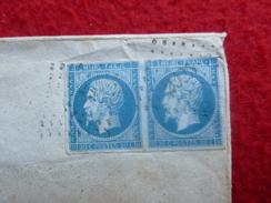 CACHET SOREZE PC 2925 TIMBRE PAIRE EMPIRE 20c LETTRE 1860 - Marcophilie (Lettres)