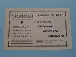 Emile DIDRY ( Tél Quaregnon 211 ) Anno 19?? ( Zie/voir Foto Voor Details ) CP / Briefkaart / Reclame-Pub !! - Quaregnon