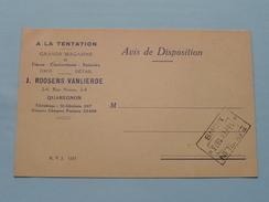 J. Roosens-Van Lierde ( Tél St. Ghislain 207 ) > E. BUSLIN Mons Anno 1933 ( Zie/voir Foto Voor Details ) Reclamekaart ! - Quaregnon