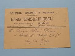 Emile GHISLAIN-COCU ( Tél St. Ghislain 643 ) Anno 19?? ( Zie/voir Foto Voor Details ) Reclamekaart ! - Quaregnon