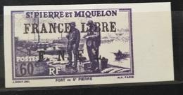05 France St.Pierre & Miquelon 1941 France Libre FNFL Scare Stamps 60c  Violet - Modern Reproduction - St.Pierre & Miquelon