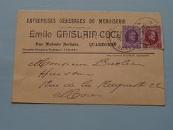 Emile GHISLAIN-COCU Entr. Générales De Menuiserie () Anno 1928 ( Zie/voir Foto Voor Details ) Briefkaart ! - Quaregnon