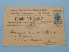 Emile VERSEZ ( Tél La Bouverie 121 ) Anno 1930 > Mons ( Zie/voir Foto Voor Details ) Briefkaart + Enveloppe (Plier) ! - Quaregnon