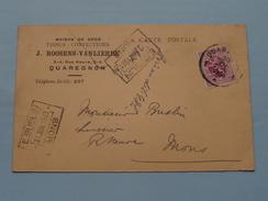 J. ROOSENS - VAN LIERDE (Tél St. Gh.207 ) Anno 1931 > Mons ( Zie/voir Foto Voor Details ) Briefkaart / CP ! - Quaregnon