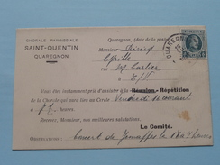 Chorale Paroissale SAINT-QUENTIN Quaregnon - Anno 1927 ( Zie/voir Foto Voor Details ) Briefkaart Coll. Depasse ! - Quaregnon