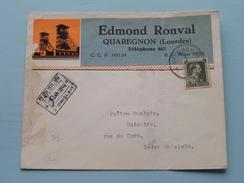 Edmond RONVAL Quaregnon (Tél 887) Anno 1940 > Huissier Saint Ghislain ( Zie/voir Foto Voor Details ) Enveloppe Plier ! - Quaregnon