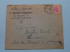 F. ROLAND-VANNE Quaregnon () Anno 1930 > Huissier Buslin Jemappe ( Zie/voir Foto Voor Details ) Enveloppe Plier ! - Quaregnon