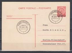 II.WK Luxemburg Auslandsganzsache MiNo. P 8 O Luxemburg 2/31.3.41 = Letztag Der Gültigkeit Nach Berlin, Rs.ohne Text - 1940-1944 German Occupation