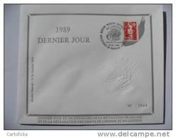 1989 FDC DERNIER JOUR Puteaux - ESSAI Inachevé (Rare) Bicentemaire Révolution Française. MARIANNE De BRIAT - 1989-96 Marianne Du Bicentenaire