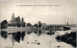 """14 Les Bords De L'orne - Bac De Clopée , Passage Du Steamer """"Hirondelle"""" (pli En Haut) - France"""