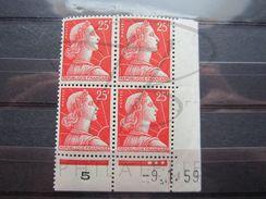 VEND BEAUX TIMBRES EN BLOC DE 4 COIN DATE N° 1011C , XX !!! - Coins Datés