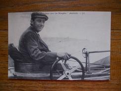 """Réédition Cartes D'autrefois , M. Hubert Latham Dans Son Monoplan """" Antoinette """" - Aviateurs"""