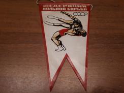 Old Sport Flags - USSR, Wrestling - Habillement, Souvenirs & Autres