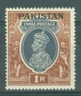 Pakistan: 1947   KGVI 'Pakistan' OVPT    SG14    1R     MH - Pakistan