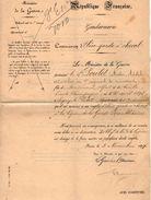VP10.816 - PARIS 1897 - Lettre - Nommination Du Sr POULET Cavalier Au 9ème Rgt De Cuirassiers - Garde Républicaine - Police & Gendarmerie