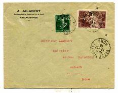 France Y&T 390 Et 361 Sur Lettre De Valenciennes Pour Denain 1938 - France