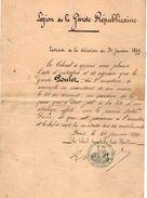VP10.817 - PARIS 1899 - Lettre - Le Colonel De La Garde Républicaine Au Sr POULET Garde Républicain 3 ème Escadron - Police & Gendarmerie