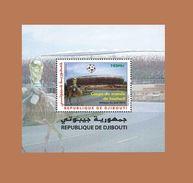 DJIBOUTI 2010 SOCCER WORLD CUP SOUTH AFRICA COUPE MONDE FOOTBALL BLOC BLOCK S/S Michel Mi 165 MNH ** RARE - Djibouti (1977-...)