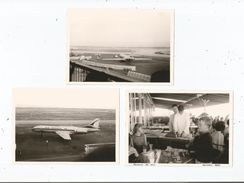 NICE (06) AEROPORT 3 PHOTOS TIREE D'UN ALBUM 1965 - Aviation