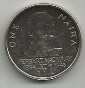 Nigeria 1 Naira 1991. KM#14 - Nigeria