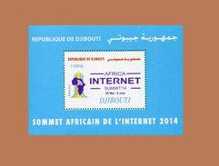 DJIBOUTI  14 TH AFRICAN SMUMMIT INTERNET AFRICA  14ème Sommet Africain Michel Mi. 819 2014 BLOC BLOCK S/S MNH ** RARE - Telecom