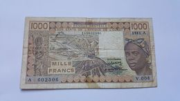 COSTA D'AVORIO 1000 FRANCS - Ivoorkust