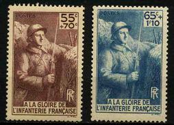 FRANCE -  YT 386 Et 387 ** - 2 TIMBRES NEUFS ** - France