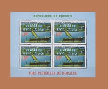 DJIBOUTI 2006 DORALEH PORT BOAT BATEAU SHIP PETROLIER PETROLEUM HARBOR BLOC BLOCK S/S Michel Mi 808 MNH ** RARE - Petrolio