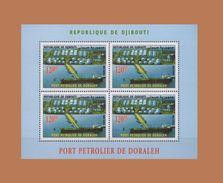 DJIBOUTI 2006 DORALEH PORT BOAT BATEAU SHIP PETROLIER PETROLEUM HARBOR BLOC BLOCK S/S Michel Mi 808 MNH ** RARE - Djibouti (1977-...)