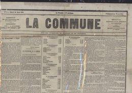 Journal La Commune De Paris Du Mardi 28 Mars 1871 Ou Germinal An 79 Numéro 9 - 1850 - 1899