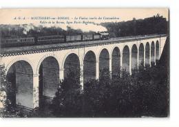 CPA 16 Mouthiers Sur Boeme Le Viaduc Courbe Des Coutaubieres Et Le Train - France