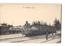 CPA 17 Chambon La Gare Et Le Train - France