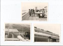 AEROPORT DE PARIS ORLY (94) 3 PHOTOS TIREES D'UN ALBUM 1966 - Aviation