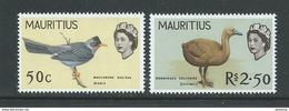 Mauritius 1968 Bird Definitives 50c & R2.5 Reprints On PVA Gum MNH - Mauritius (1968-...)