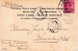 Carte Postale Inde India 1903 Esplanade Road Bombay Stamp Edward VII India Postage Sea Post Office - India (...-1947)