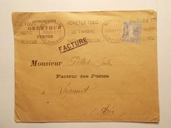 Marcophilie  Cachet Lettre Obliteration Timbres - Entête Pro. Imprimerie RENNES 1932 (1145) - 1921-1960: Période Moderne