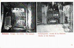 CPA N°9320 - LOT DE 5 CARTES BETHLEHEM - LA CRECHE + LA GROTTE DE LA NATIVITE - Palästina