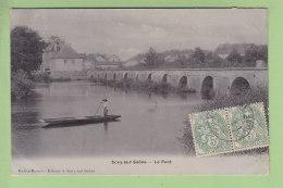 SCEY SUR SAONE : Le Pont. Carte Glacée. 2 Scans. Robez Masson - France