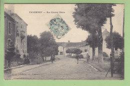 FAVERNEY : Rue Général Détrie. TBE. 2 Scans. Edition Cueillette - France