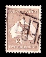 Australia 1915 Kangaroo 2/- Brown 2nd Watermark Used - - 1913-48 Kangaroos