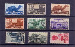 ERITREA  Soggetti Africani Posta Ordinaria 9 Valori  018 - Eritrea