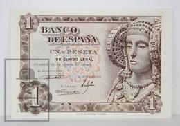 Spain/ España 1 Pesetas/ Ptas Spanish Banknote - Issued 1948, Ñ Series - UNC Quality - [ 3] 1936-1975 : Régimen De Franco